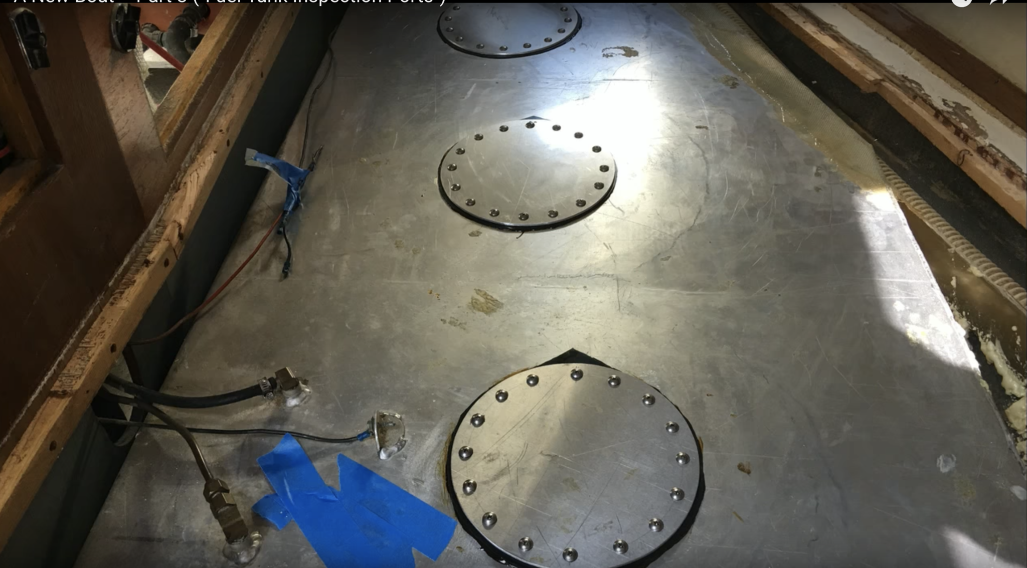fabriquer trappe de visite reservoir carburant bateau